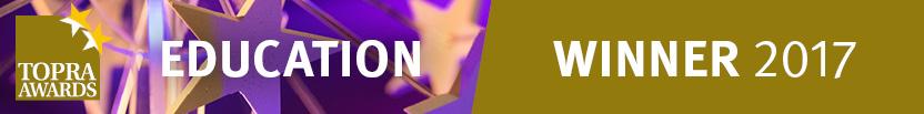TOPRA award banner