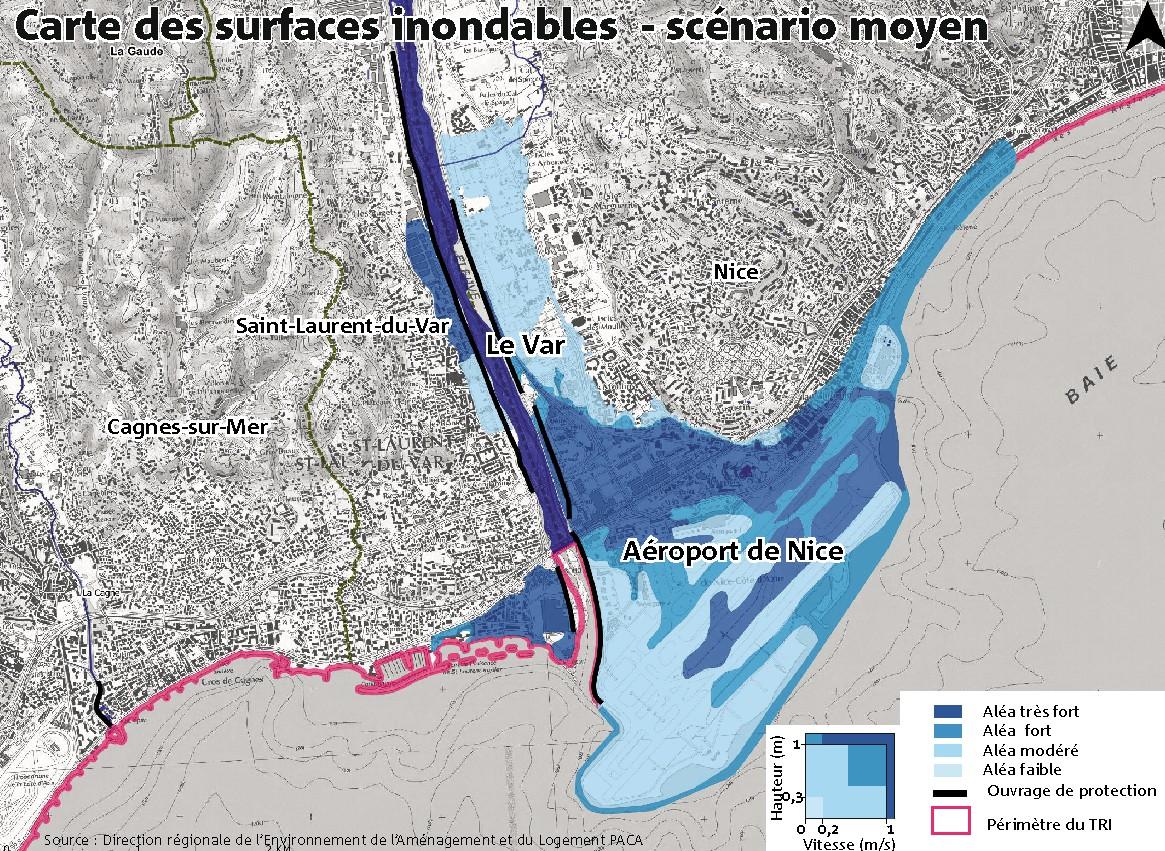 Carte des surfaces inondables - Inondations-Un-scénario-déjà-écrit-en-2013