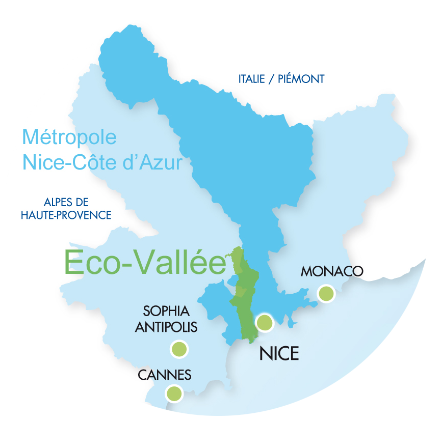 Carte-EcoVallée -Nice