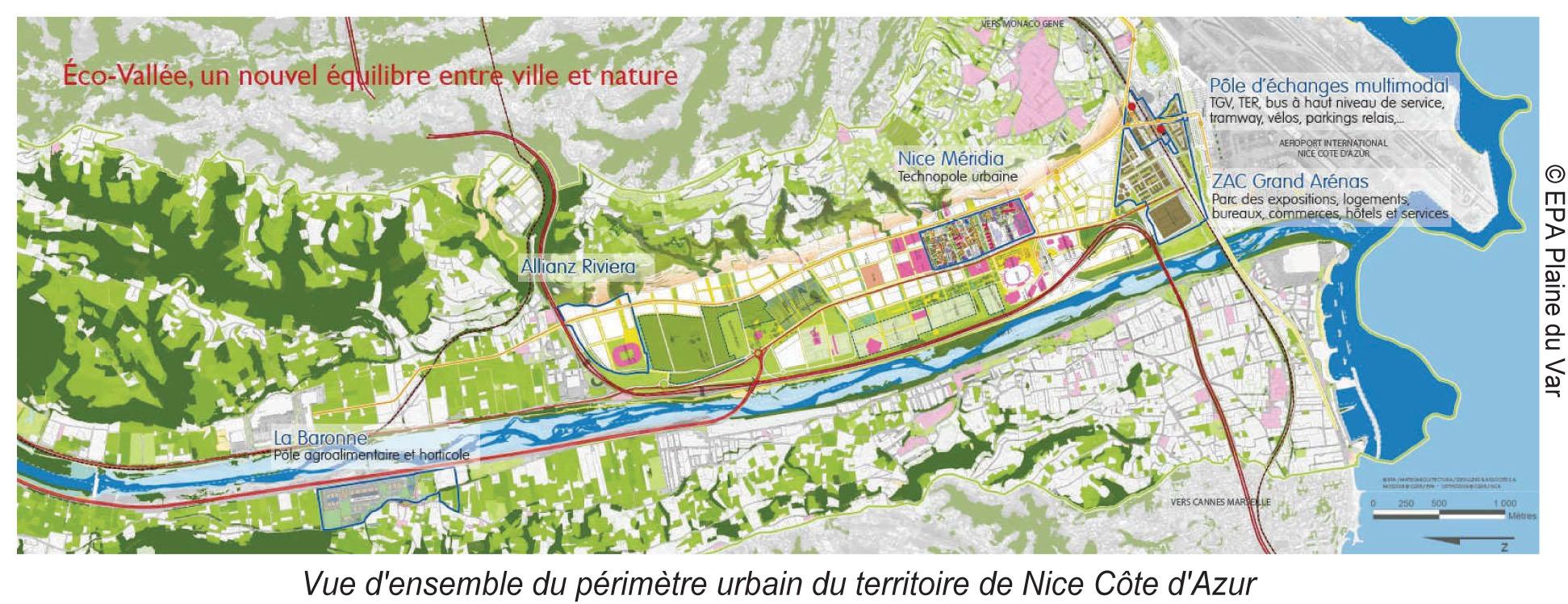 Périmètre territoire Nice Côte d'Azur (2013-09-Fiche-Nice-EcoCité-NCA-PdV