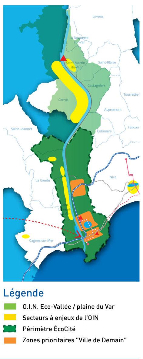 carte Périmètre EcoCité NCA Fiche2012 swEv
