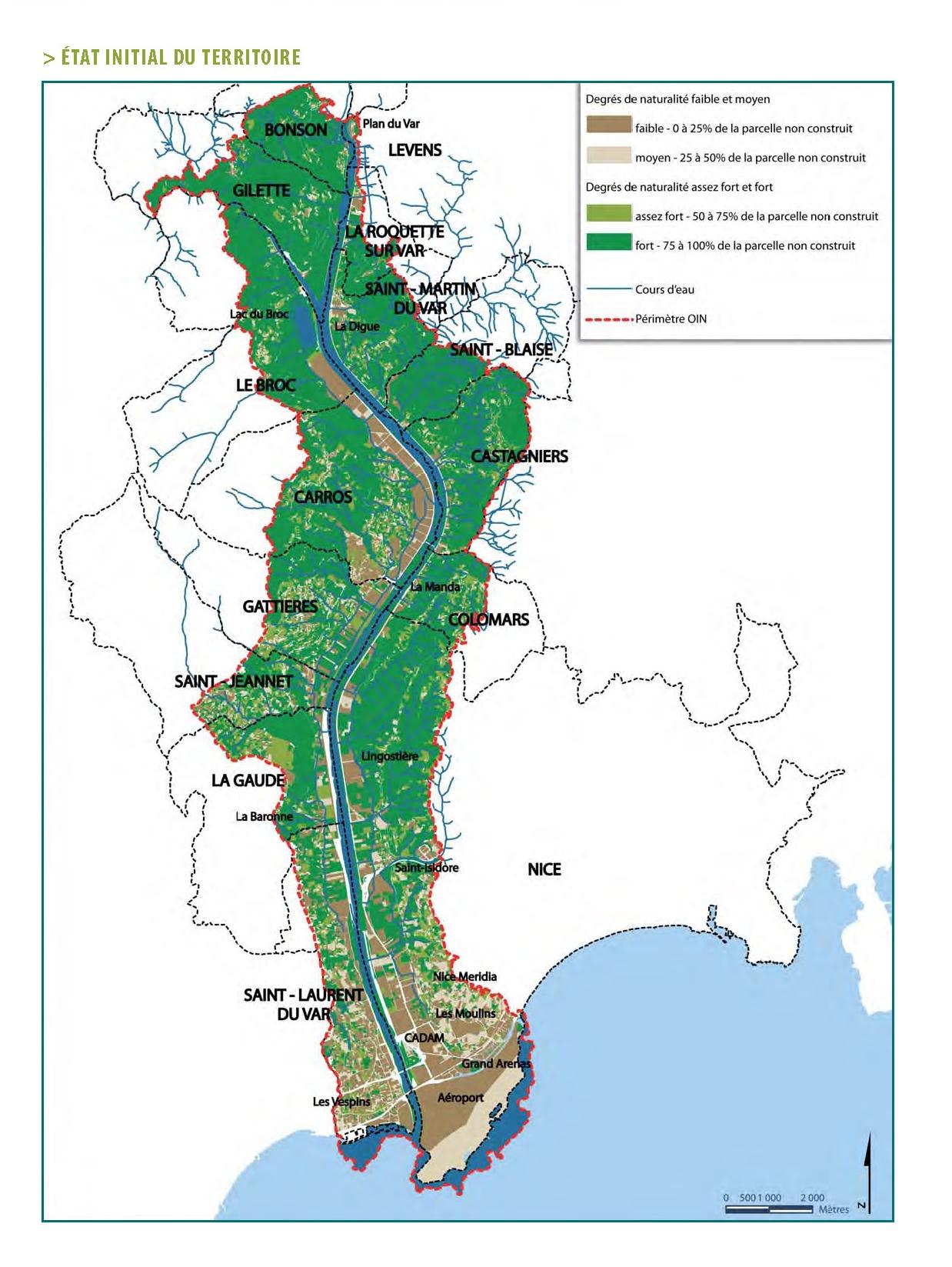 carte: Etat Initial du Territoire (cf. 2011-12 Projet de territoire Eco-Vallée)