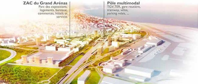 ZAC du Grand Arénas, Parc des expositions, bureaux, hôtels, logements, ... + Pôle multimodal