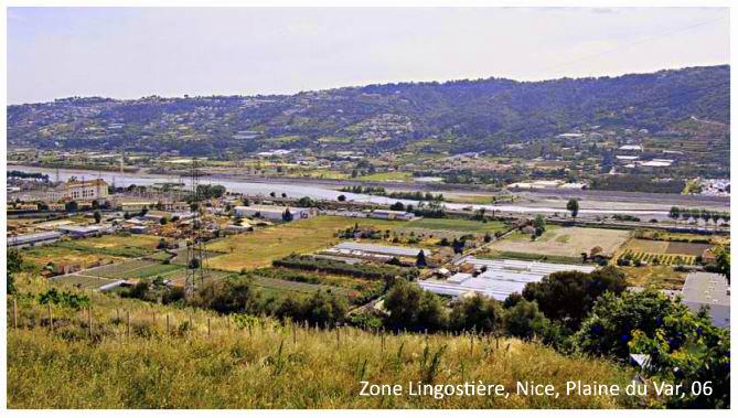 Zone Lingostière Nice Plaine du Var, AM 06
